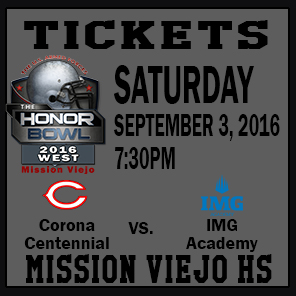 The Honor Bowl: Tickets for Saturday Game 6