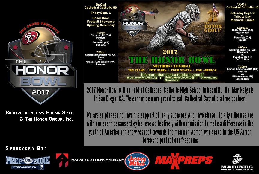 2017 Honor Bowl Sponsors
